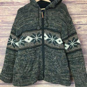 Kyber Wool Hooded Zip Fleece Sweater Coat Jacket